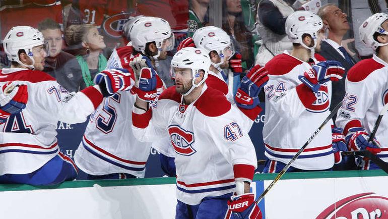 "Среда. Даллас. ""Даллас"" - ""Монреаль"" - 3:4 ОТ. Александр РАДУЛОВ празднует забитый гол. Фото NHL.com"