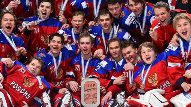 Сегодня. Монреаль. Молодежная сборная России с бронзовыми медалями чемпионата мира. Фото worldjunior2017.com