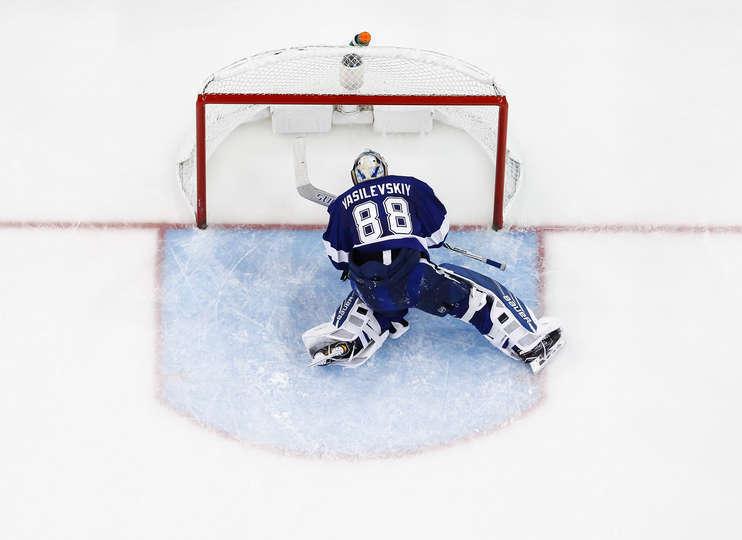 "Четверг. Тампа. ""Тампа Бэй"" - ""Нэшвилл"" - 1:6. Андрей ВАСИЛЕВСКИЙ. Фото NHL.com"