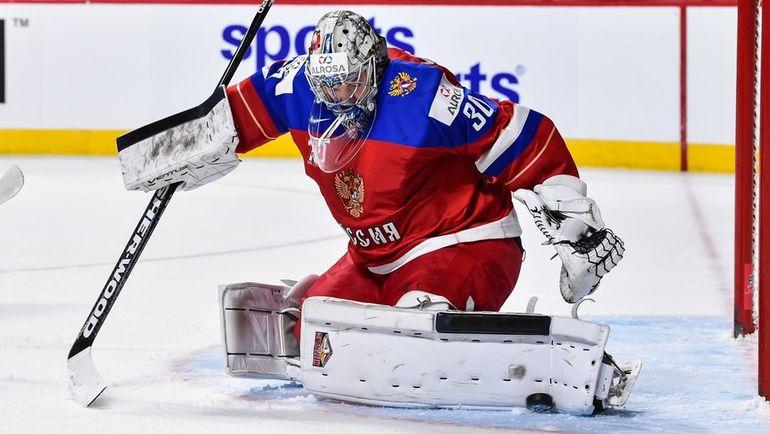 Вратарь сборной России Илья САМСОНОВ. Фото AFP
