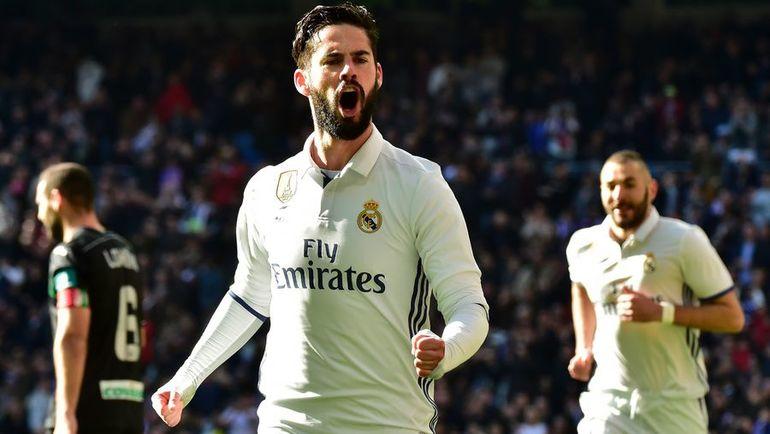 """Сегодня. Мадрид. """"Реал"""" - """"Гранада"""" - 5:0. ИСКО празднует первый гол в ворота соперника. Фото AFP"""