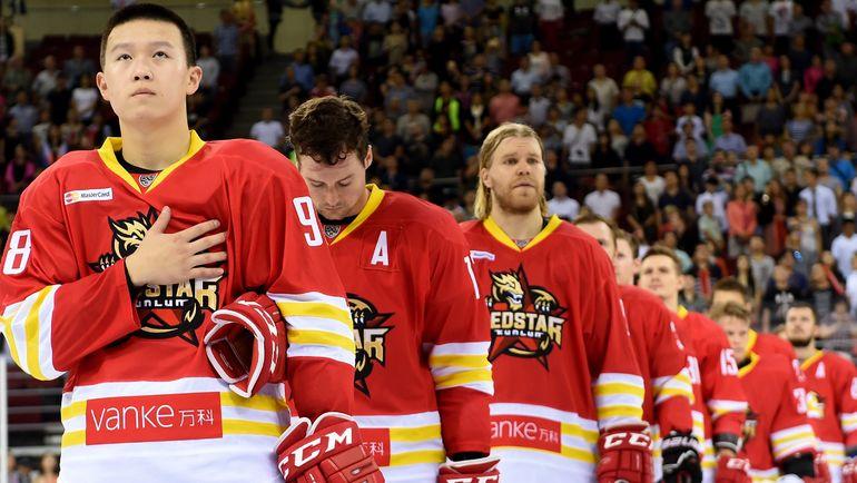 "Хоккеисты ""Куньлуня"". Фото photo.khl.ru"