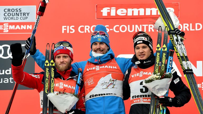 Мартин СУНДБЮ, Сергей УСТЮГОВ и Дарио КОЛОНЬЯ (слева направо). Фото AFP