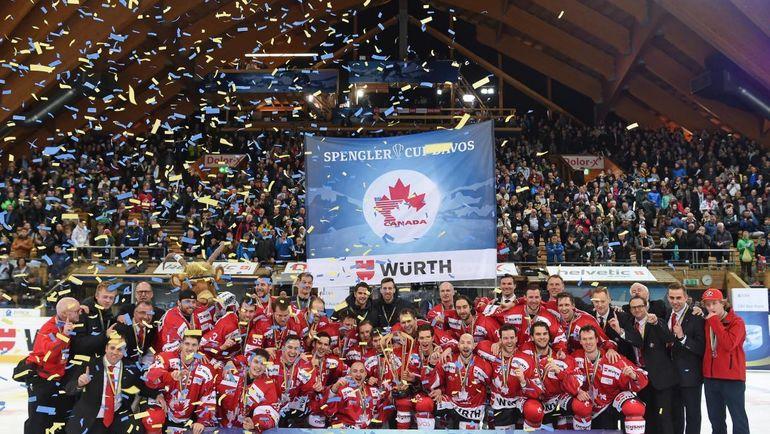 Канада празднует победу в Кубке Шпенглера. Фото twitter.com/HC_Men