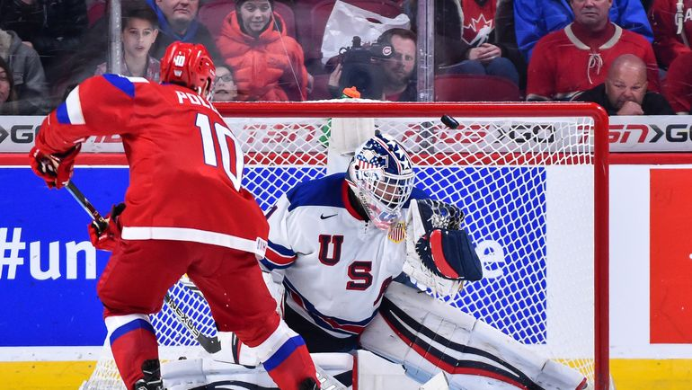 Буллитная серия в полуфинале МЧМ-2017 между сборными России и США. Фото AFP