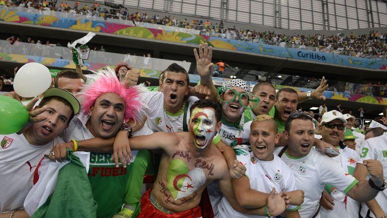 Болельщики сборной Алжира. Фото AFP