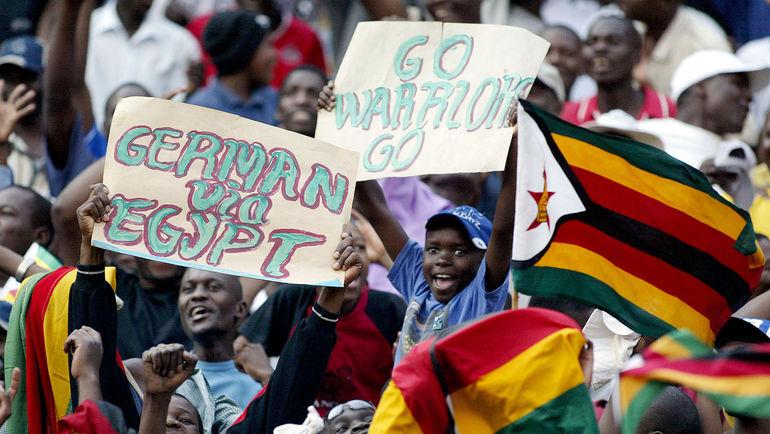 Болельщики сборной Зимбабве. Фото AFP