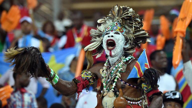 Болельщик сборной ДР Конго. Фото AFP