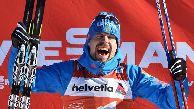 """Сергей УСТЮГОВ стал первым в истории лыжником, которому удалось выиграть пять гонок в рамках одного """"Тур де Ски"""". Фото AFP"""