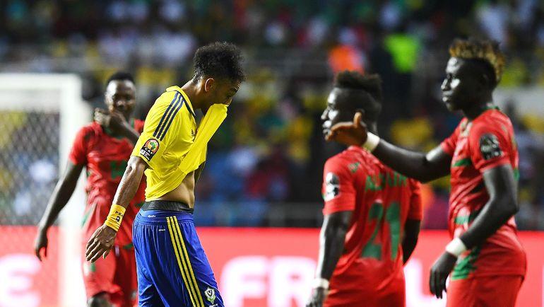 Нападающий сборной Габона Пьер-Эмерик ОБАМЕЯНГ. Фото AFP