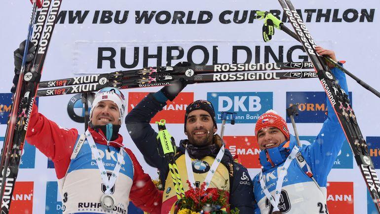 Эмиль Хегле СВЕНДСЕН, Мартен ФУРКАД и Михал КРЧМАРЖ (слева направо). Фото AFP