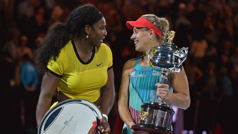 Чемпионка Australian Open-2016 Ангелик КЕРБЕР (справа) и финалистка Серена УИЛЬЯМС. Как будет в этом году? Фото AFP