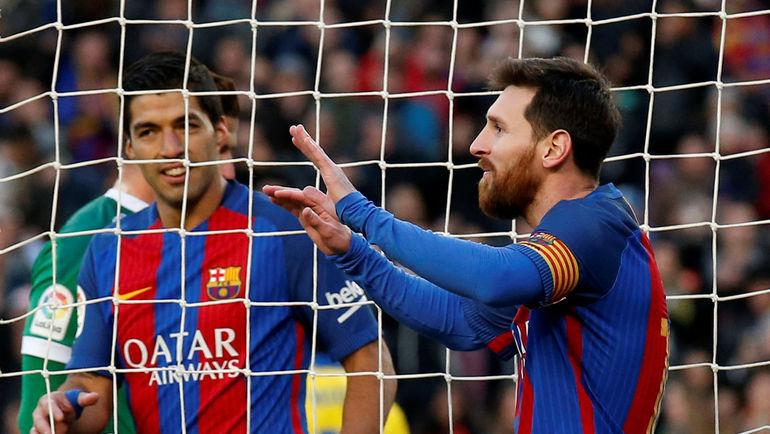 """Суббота. Барселона. """"Барселона"""" - """"Лас-Пальмас"""" - 5:0. Лионель МЕССИ. Фото Reuters"""