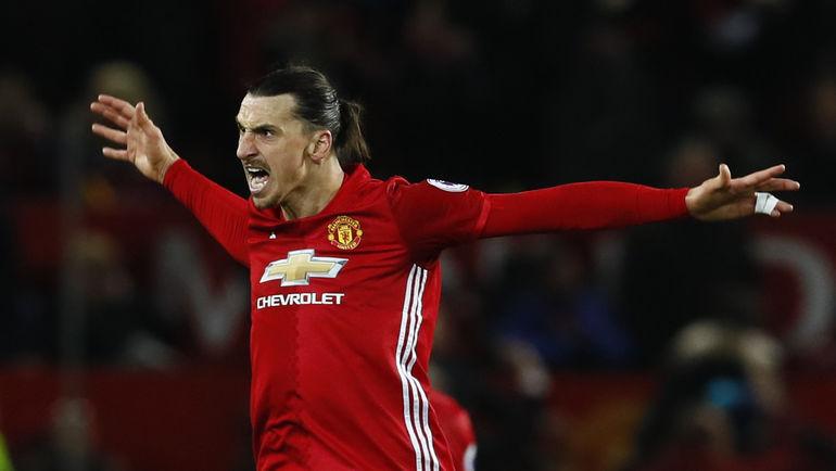 "Нападающий ""Манчестер Юнайтед"" Златан ИБРАГИМОВИЧ. Фото Reuters"
