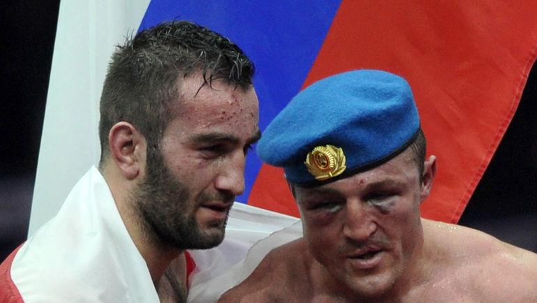 Мурат ГАССИЕВ (слева) и Денис ЛЕБЕДЕВ. Фото Федор УСПЕНСКИЙ, «СЭ»
