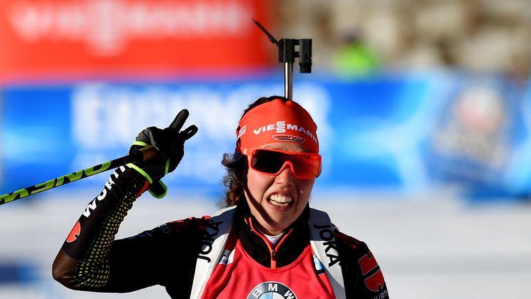 Лаура ДАЛЬМАЙЕР - победительница индивидуальной гонки. Фото AFP