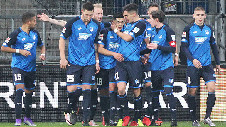"""""""Хоффенхайм"""" - единственный клуб в ведущих европейских чемпионатах, не проигрывавший в сезоне-2016/17. Фото AFP"""