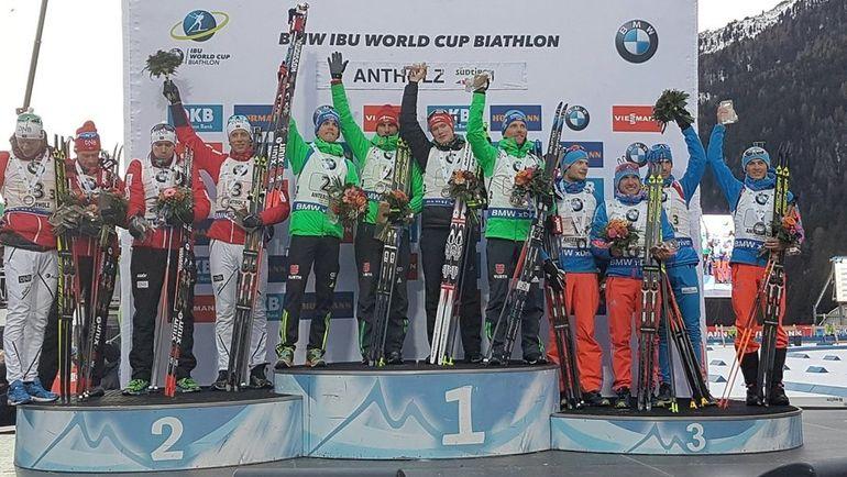 Сегодня. Антерсельва. Германия выиграла мужскую эстафету. Норвегия - вторая, Россия стала третьей. Фото IBU