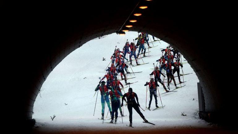 Международный союз биатлонистов - о деле России. Фото AFP