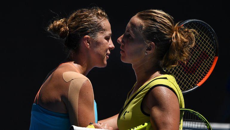 Анастасия ПАВЛЮЧЕНКОВА (слева) и Светлана КУЗНЕЦОВА. Фото AFP