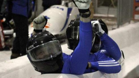 Суббота. Парк-Сити. Александр ЗУБКОВ и его экипаж после второй попытки. Фото REUTERS Фото Reuters