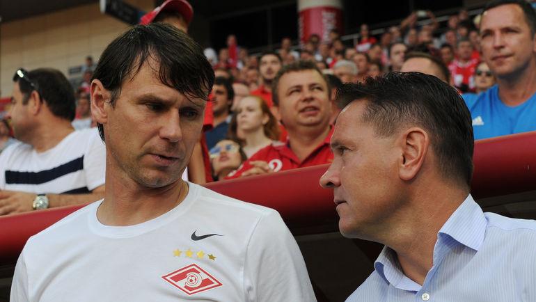 Егор ТИТОВ (слева) и Дмитрий АЛЕНИЧЕВ. Фото Александр ФЕДОРОВ, «СЭ»
