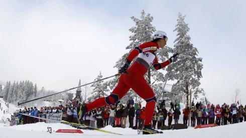 Сегодня. Холменколлен. Марит БЬОРГЕН стремится к своей третьей победе на домашнем чемпионате мира Фото Reuters