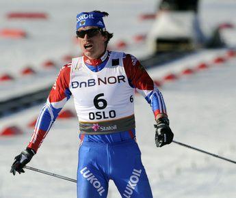 Сегодня. Осло. Максим ВЫЛЕГЖАНИН после финиша марафона. Фото AFP Фото AFP