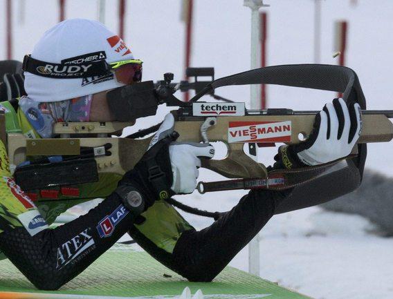 Словацкая биатлонистка Анастасия КУЗЬМИНА. Фото REUTERS Фото Reuters