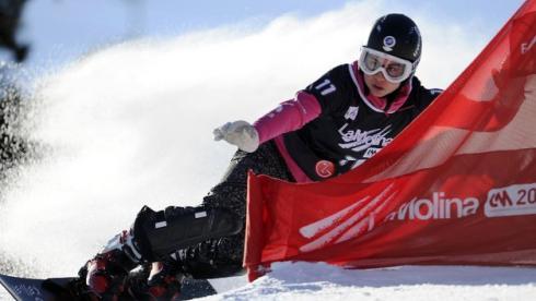 Победительница общего зачета Кубка мира по сноуборду-2010/11 Екатерина ТУДЕГЕШЕВА. Фото AFP. Фото AFP