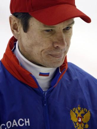 Главный тренер сборной России Вячеслав БЫКОВ. Фото REUTERS Фото Reuters