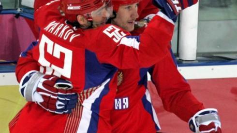 Андрей МАРКОВ и Алексей КОВАЛЕВ на Олимпиаде-2006. Фото Александра ВИЛЬФА Фото «СЭ»