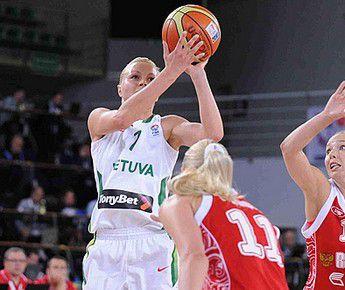 Сегодня. Быдгощ. Сборная Литвы, ведомая Аушрой БИМБАЙТЕ, переиграла сборную России Марии СТЕПАНОВОЙ (№11). Фото FIBA-Europe Фото «СЭ»
