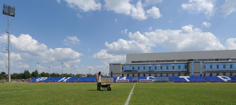 """Вчера. Стадион """"Истры"""". Фото Татьяны ДОРОГУТИНОЙ, """"СЭ"""" Фото """"СЭ"""""""