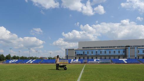 """Вчера. Стадион """"Истры"""". Фото Татьяны ДОРОГУТИНОЙ, """"СЭ"""" Фото «СЭ»"""
