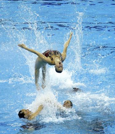 Сегодня. Шанхай. Сборная России по синхронному плаванию. Фото AFP Фото «СЭ»