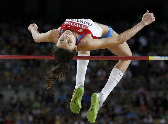 Сегодня. Тэгу. Чемпионат мира. Анна ЧИЧЕРОВА в секторе для прыжков в высоту. Фото REUTERS Фото Reuters
