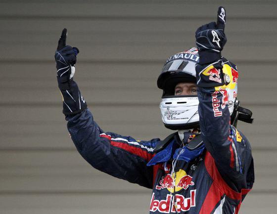 """Сегодня. Сузука. """"Гран-при Японии"""". Себастьян ФЕТТЕЛЬ празднует второе чемпионство подряд в карьере. Фото REUTERS Фото Reuters"""
