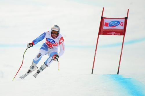 Беат ФОЙЦ показал первое время в мужском скоростном спуске на олимпийской трассе в Сочи. Фото AFP Фото AFP