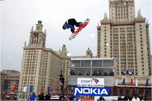 3 марта 2012 года в Москве пройдет этап Кубка мира по сноуборду Фото «СЭ»