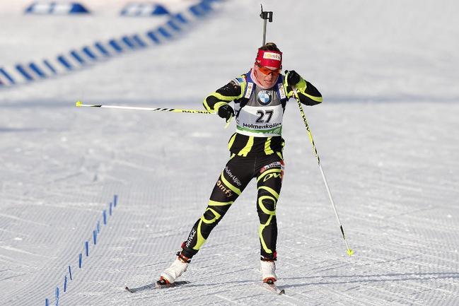 Французская биатлонистка Мари ДОРЕН. Фото REUTERS Фото Reuters