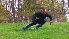 На лыжах по траве Фото «СЭ»