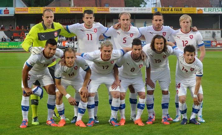 26 мая. Хартберг. Сборная Чехии перед товарищеским матчем с Израилем Фото AFP