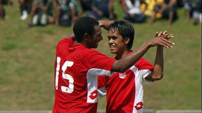 Пятница. Хониара (Соломоновы острова). Самоа - Таити - 1:10. Футболисты сборной Таити празднуют забитый гол. Фото FIFA Фото «СЭ»