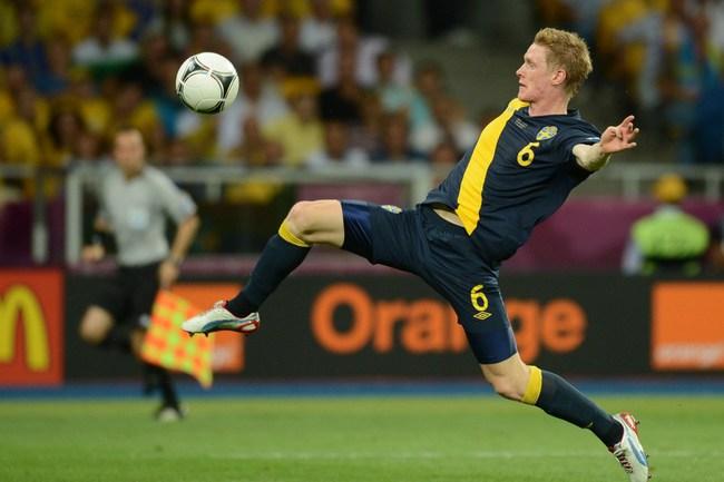 Полузащитник сборной Швеции Расмус ЭЛЬМ. Фото AFP Фото AFP