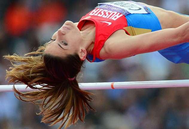 """Анна ЧИЧЕРОВА - олимпийская чемпионка! Фото AFP Фото """"СЭ"""""""