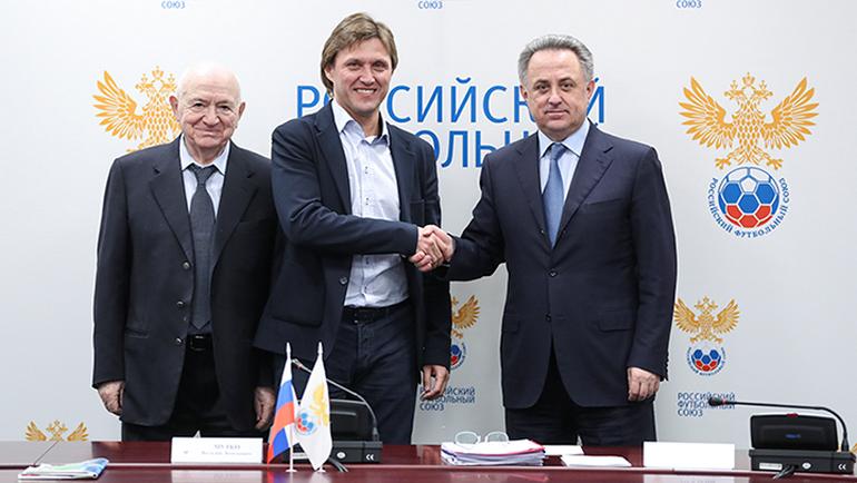 Сегодня. Москва. Виталий МУТКО (справа), Евгений БУШМАНОВ (в центре) и Никита СИМОНЯН. Фото РФС