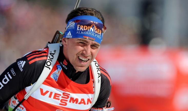Немецкий биатлонист Михаэль ГРАЙС. Фото AFP Фото AFP