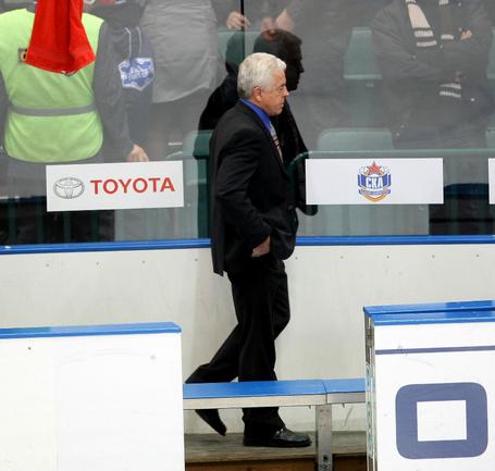 Бывший главный тренер СКА Барри СМИТ. Фото Владимира БЕЗЗУБОВА, КХЛ Фото photo.khl.ru
