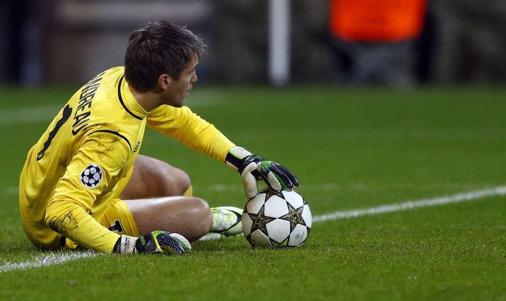 "Вратарь ""Лилля"" Микаэль ЛАНДРО. Фото REUTERS Фото Reuters"